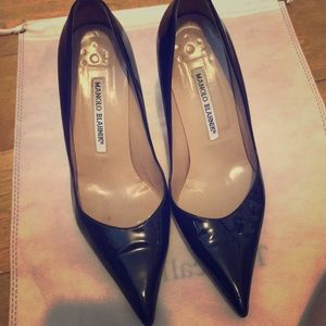 Manila Blahnik patent leather heels